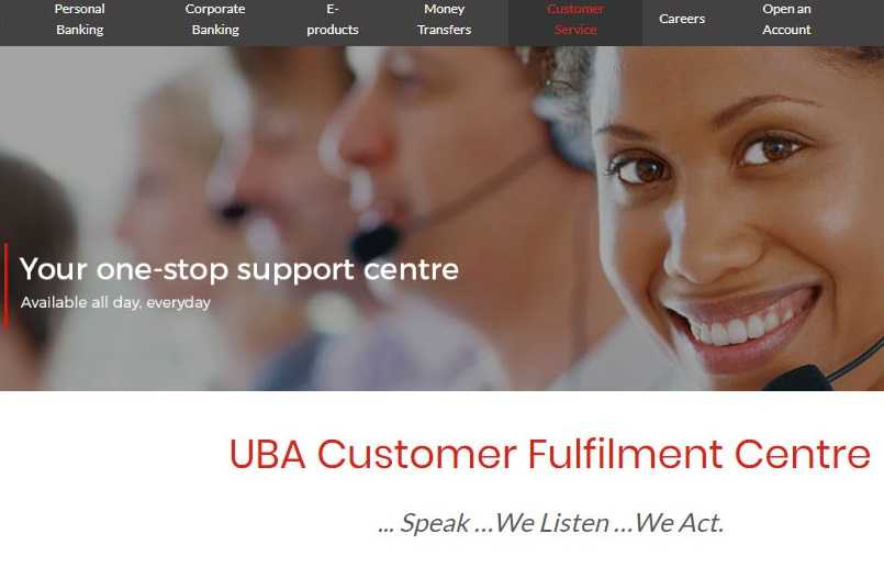 UBA Customer Care Number