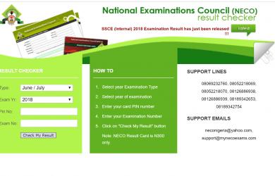 How to check NECO results in Nigeria