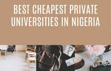 Best Cheapest Private Universities in Nigeria