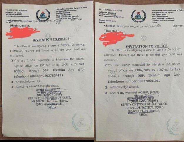Timidakolo and Wife invited by Nigeria Police for Falsehood Against COZA pastor Biodun Fatoyinbo 2