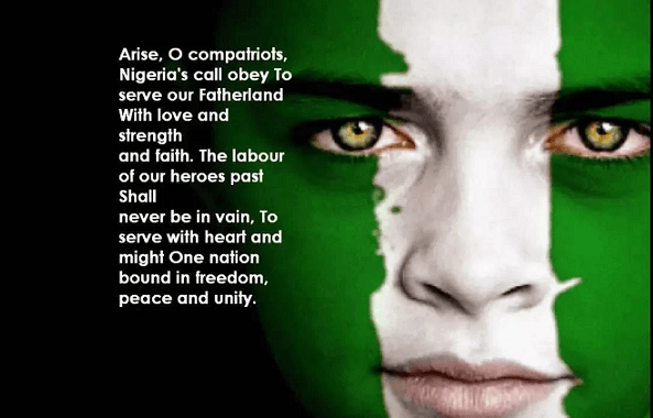 lyrics of Nigerian National Anthem